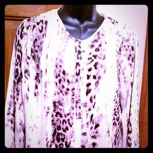 J Lo womens long sleeve blouse